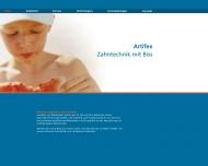 Bild Webseite Artifex Zahntechnik Düsseldorf
