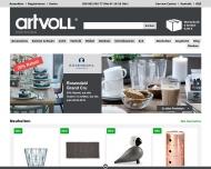 Bild Webseite artvoll.de Berlin
