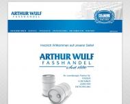 Bild Webseite Arthur Wulf Fasshandel Hamburg