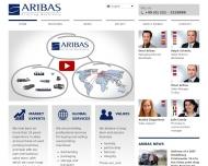 Bild Webseite Aribas Printing Machinery Köln