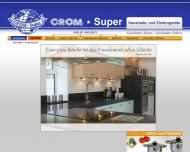 Bild Webseite Crom Super Haushalts- und Elektrogeräte Berlin