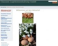 Bild Webseite Claussen Legehennenhaltung Malente