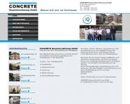 Bild Webseite CONCRETE Bauunternehmung Berlin