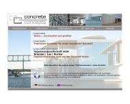 Bild Webseite Concrete Concepts Ingenieurgesellschaft München