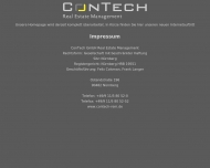 Bild Webseite ConTech Verwaltung Nürnberg