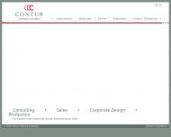 Bild Webseite CONTUR Clothing Company Hamburg