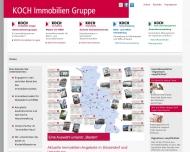 Bild Webseite Koch Immobilien Düsseldorf