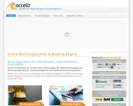 Bild Webseite accelo de Berlin