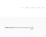 Bild Webseite Auffermann Rechtsanwaltsgesellschaft m.b.H. Berlin