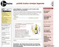Bild Webseite Club Voltaire Frankfurt