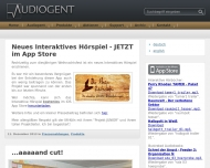 Bild Webseite Audiogent Magdeburg