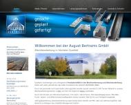 Bild Webseite August Bertrams Köln