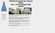 Bild Webseite August Böhm Bau- und Stuckgeschäft München
