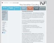 Bild Webseite Prinz Immobilien Consulting Köln
