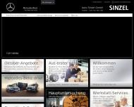 Bild Webseite Auto Sinzel Bochum