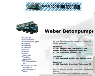 Bild Webseite Weber Betonpumpen Bayern Bergkirchen