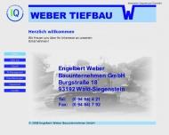 Website Weber Bauunternehmen