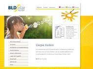 Bild Webseite BLD Solar Europe Düsseldorf