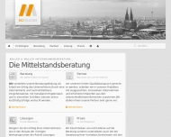 Bild Webseite Müller & Müller Unternehmensberatung Köln