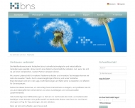 Bild Webseite BNS Kommunikations-Vertriebs Wuppertal
