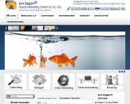 Bild Webseite pro:tagon Verwaltung Köln