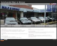 Bild Webseite Autohandel Malc & Weisse Hamburg