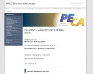 Bild Webseite PECA Diamant-Werkzeuge Wuppertal