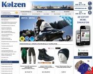 Bild Webseite Kolzen Textilservice Hamburg