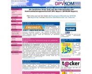 Bild Webseite Kommunikationsgewerkschaft DPV Bayern Nürnberg