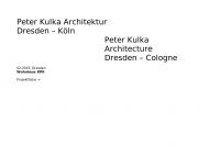 Bild Webseite Peter Kulka Architektur Dresden Dresden