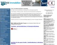Bild Webseite WOGE Immobilien Nürnberg