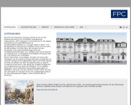 Bild Webseite FPC First Properties Company Hamburg