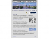 Bild Webseite Frankfurter Literatur verlag Frankfurt