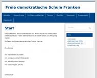Bild Webseite Freie demokratische Schule Franken Nürnberg