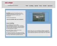 Bild Webseite Helipro Hamburg