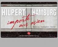 Bild Webseite HHW Hans Hilpert Werbemittel Handels Hamburg