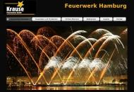 Bild Webseite Krause Feuerwerke Hamburg