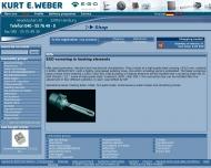 Bild Webseite Kurt E. Weber Hamburg