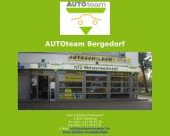 Bild Webseite Autoteam Bergedorf UG Hamburg