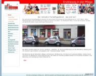 Bild Webseite remedico Fachpflegedienst Berlin