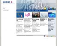 Bild Webseite BROCHIER Holding Nürnberg