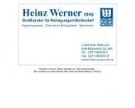 Bild Webseite Heinz Werner Köln