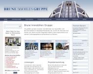Bild Webseite Brune Immobilien Düsseldorf