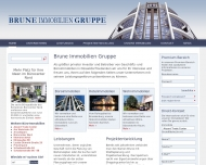 Bild Webseite Brune Real Estate Düsseldorf