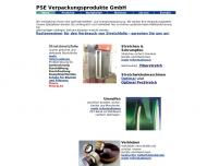 Bild Webseite PSE Verpackungsprodukte Köln