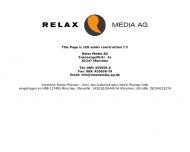 Bild Webseite Relax Media Aktiengesellschaft München