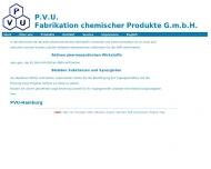 Bild Webseite P.V.U. Fabrikation chemischer Produkte Hamburg