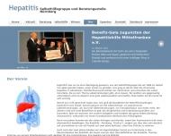 Website Hepatitishilfe Mittelfranken