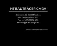 Bild Webseite HT Bauträger München