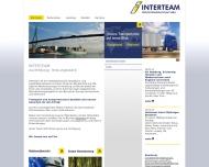 Bild Webseite INTERTEAM Speditionsgesellschaft Hamburg